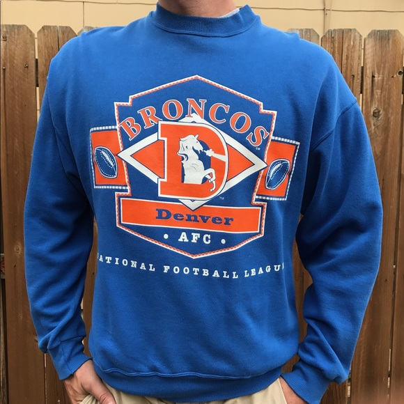 new arrival 3e53c 933fb Denver Broncos Vintage Sweater